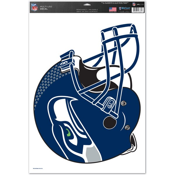 "Seattle Seahawks WinCraft 11"" x 17"" Multi-Use Helmet Decal"
