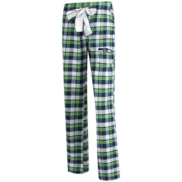 Seattle Seahawks Concepts Sport Women's Piedmont Flannel Sleep Pants - College Navy/Neon Green