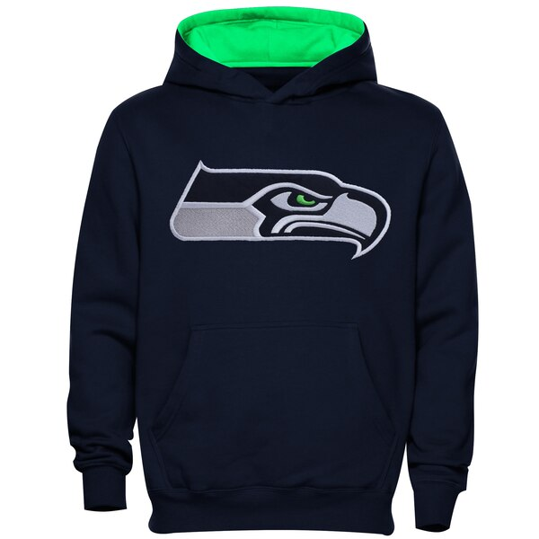 Seattle Seahawks Preschool Fan Gear Primary Logo Pullover Hoodie - College Navy