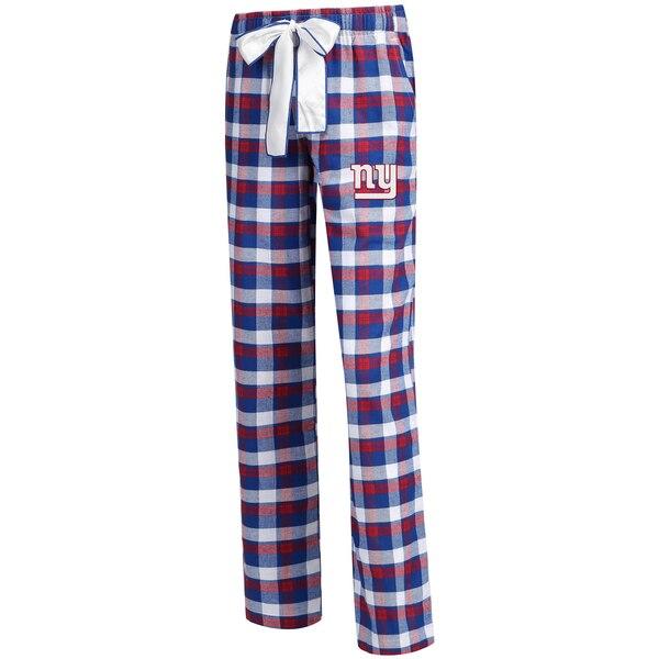 New York Giants Concepts Sport Women's Piedmont Flannel Sleep Pants - Royal/Red