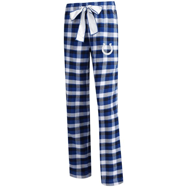 Indianapolis Colts Concepts Sport Women's Piedmont Flannel Sleep Pants - Royal/Black