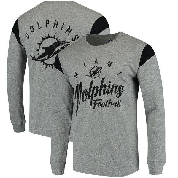 Miami Dolphins Hands High Receiver Long Sleeve T-Shirt - Gray/Black