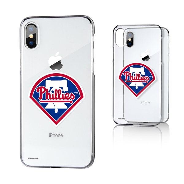 Philadelphia Phillies iPhone X/Xs Logo Clear Case