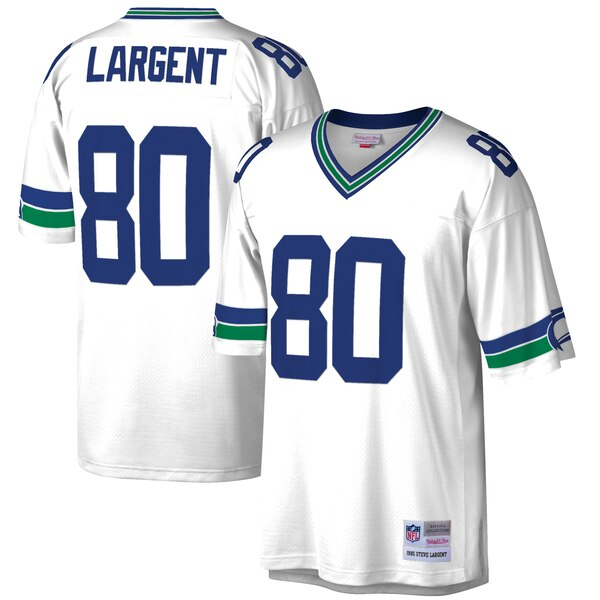 Steve Largent Seattle Seahawks Mitchell & Ness Retired Player Legacy Replica Jersey - White