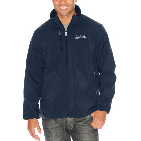 Seattle Seahawks G-III Sports by Carl Banks Strong Side Soft Shell Jacket - Navy
