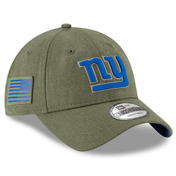 New York Giants New Era Youth 2018 Salute to Service Sideline 9TWENTY Adjustable Hat - Olive