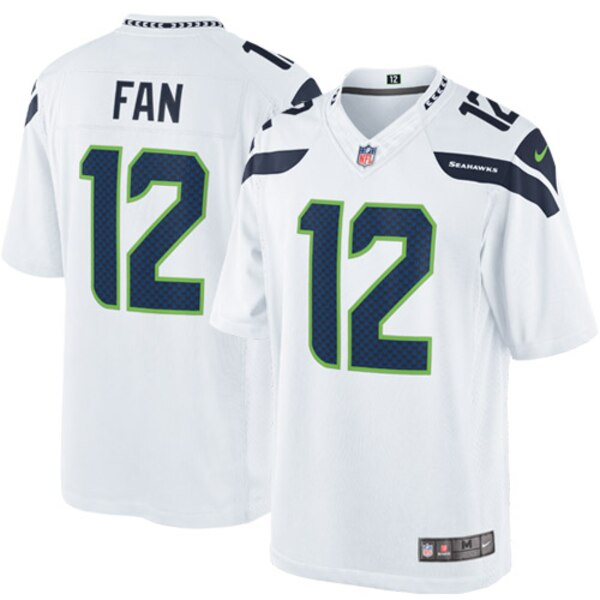 12s Seattle Seahawks Nike Limited Jersey - White