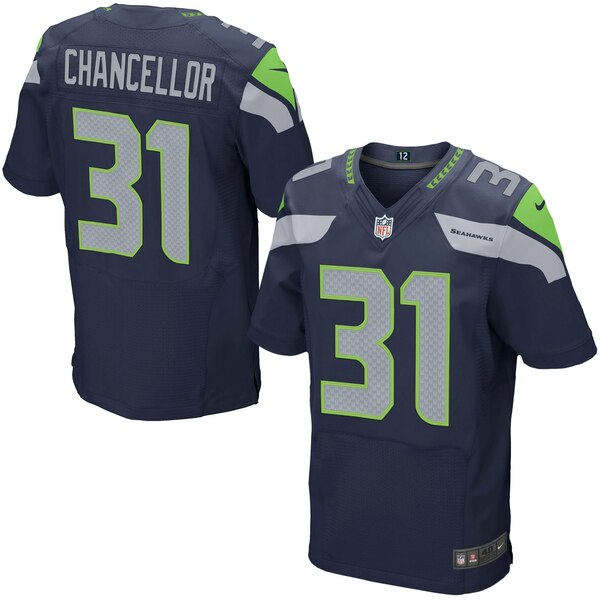 Kam Chancellor Seattle Seahawks Nike Elite Jersey - College Navy