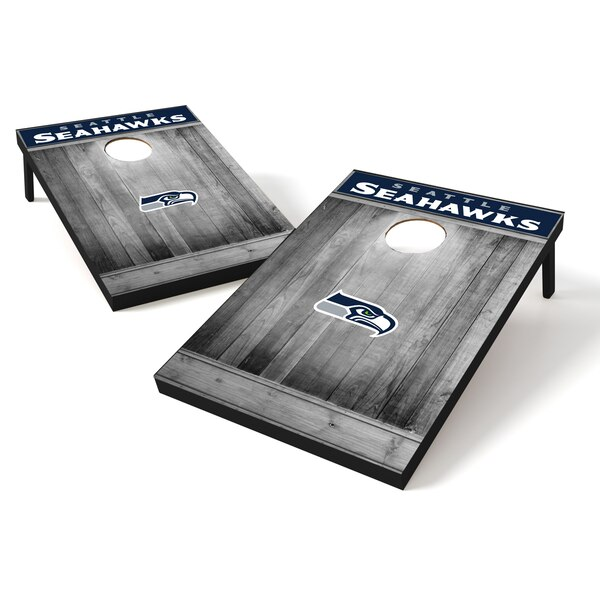 Seattle Seahawks 2' x 3' Team Logo Cornhole Tailgate Toss Set