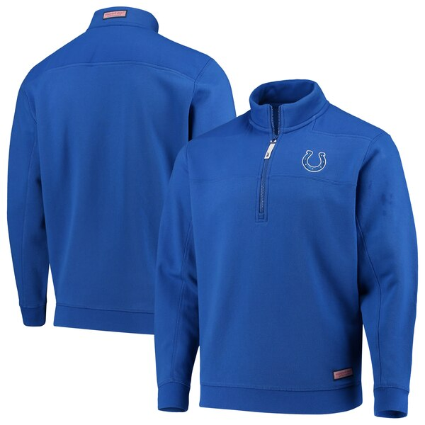 Indianapolis Colts Vineyard Vines Collegiate Shep Shirt Quarter-Zip Pullover Jacket - Royal