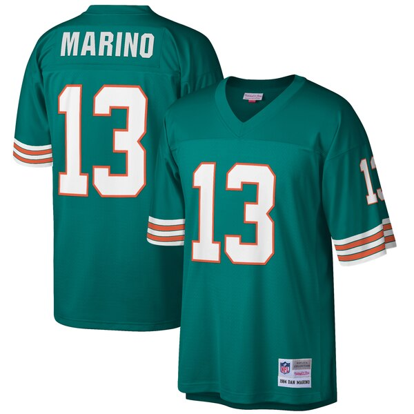 Dan Marino Miami Dolphins Mitchell & Ness Big & Tall 1984 Retired Player Replica Jersey - Aqua