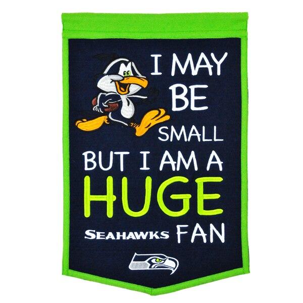 """Seattle Seahawks 12"""" x 18"""" Lil Fan Traditions Banner"""