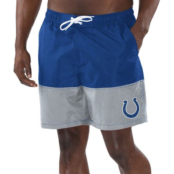 Indianapolis Colts G-III Sports by Carl Banks Anchor Volley Swim Trunks - Royal/Gray