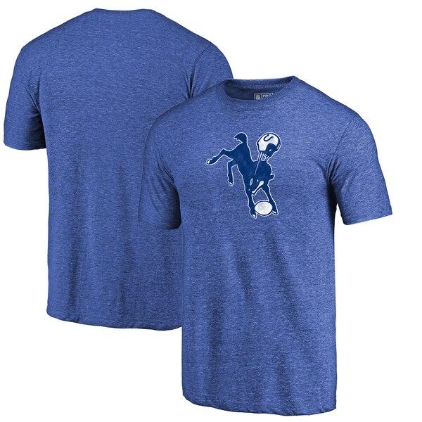 Indianapolis Colts Fanatics Branded Throwback Logo Tri-Blend T-Shirt - Royal