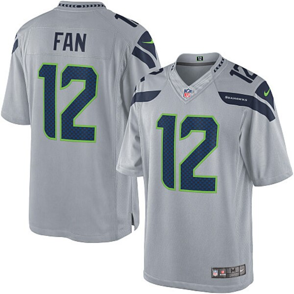 12s Seattle Seahawks Nike Alternate Limited Jersey - Gray
