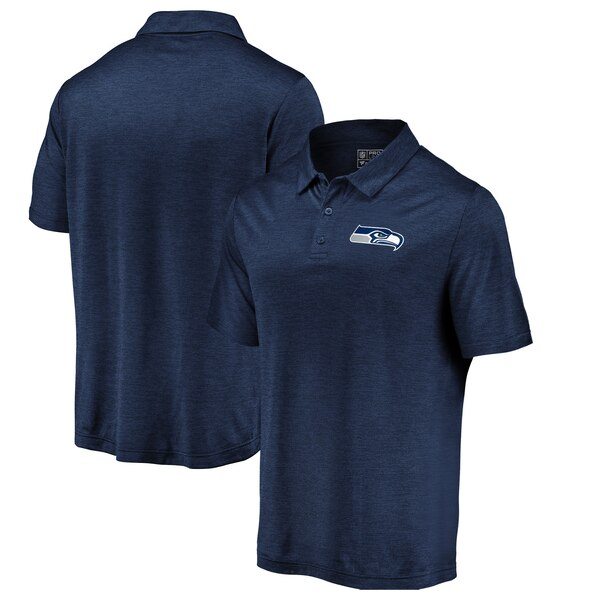Seattle Seahawks Majestic Iconic Positive Production Polo - Heathered College Navy