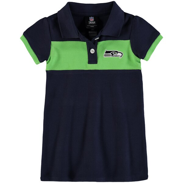 Seattle Seahawks Girls Toddler Halftime Dress - College Navy/Neon Green