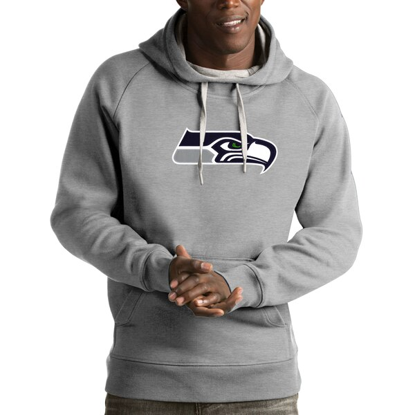 Seattle Seahawks Antigua Victory Pullover Hoodie - Heather Gray