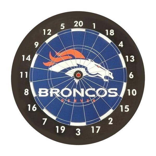 Denver Broncos Imperial Paper Dartboard Gift Set - Black