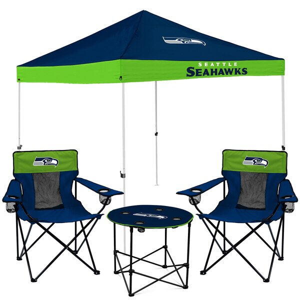 Seattle Seahawks Tailgate Canopy Tent, Table, & Chairs Set