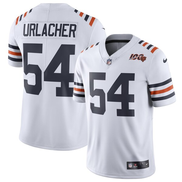 Brian Urlacher Chicago Bears Nike 2019 100th Season Alternate Classic Retired Player Limited Jersey - White