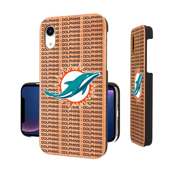 Miami Dolphins iPhone Text Backdrop Design Cherry Case