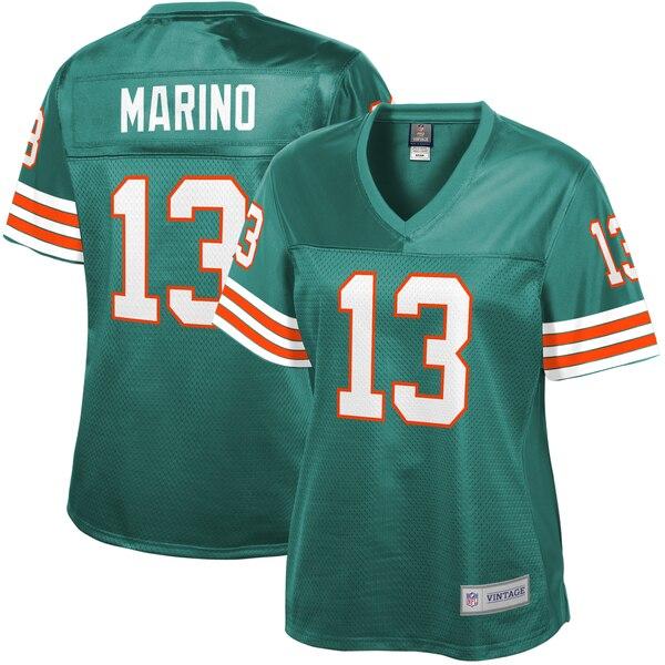 Dan Marino Miami Dolphins NFL Pro Line Women's Retired Player Replica Jersey - Aqua