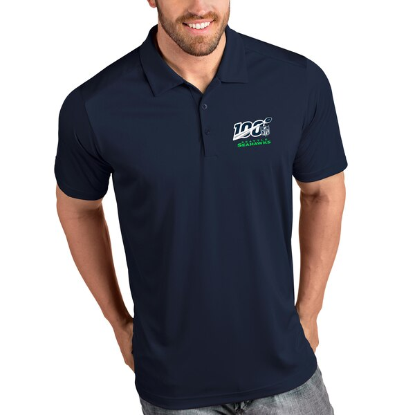 Seattle Seahawks Antigua NFL 100 Tribute Polo - Navy