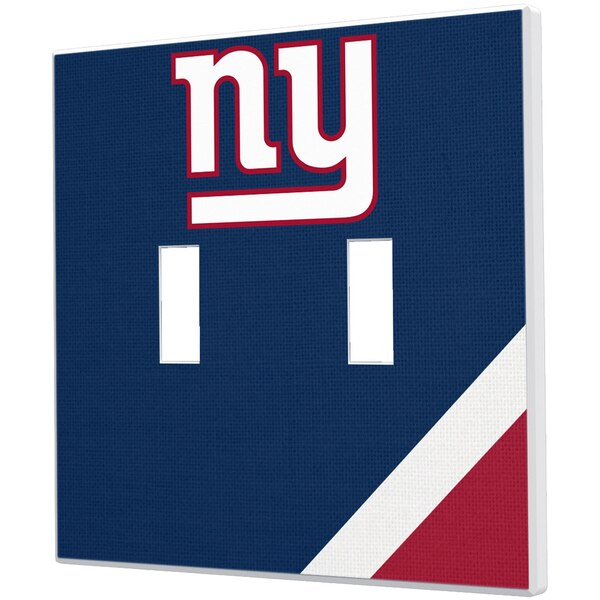 New York Giants Diagonal Stripe Double Toggle Light Switch Plate