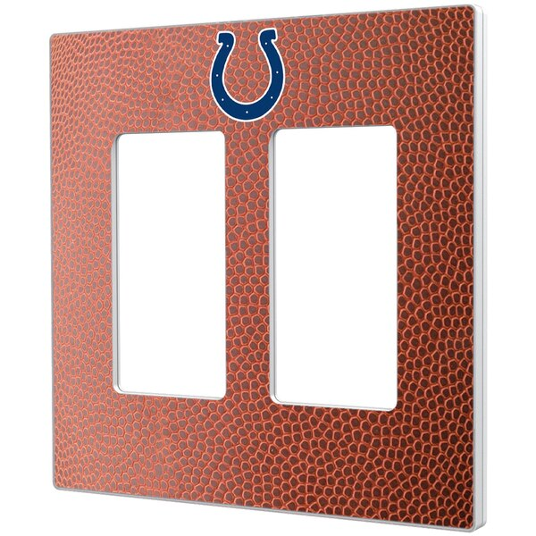 Indianapolis Colts Football Design Double Rocker Light Switch Plate