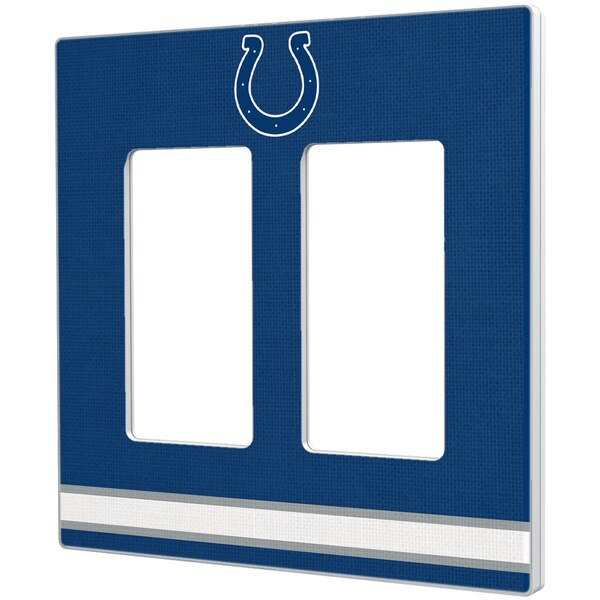 Indianapolis Colts Stripe Double Rocker Light Switch Plate