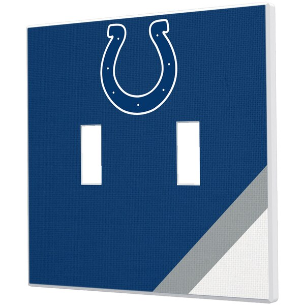 Indianapolis Colts Diagonal Stripe Double Toggle Light Switch Plate
