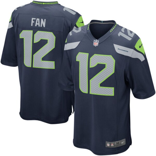 12s Seattle Seahawks Nike Alternate Game Jersey - College Navy