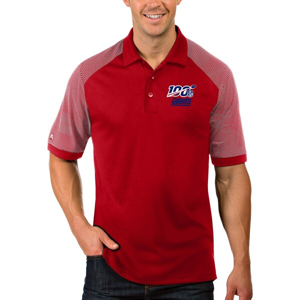 New York Giants Antigua NFL 100 Engage Polo - Red/White