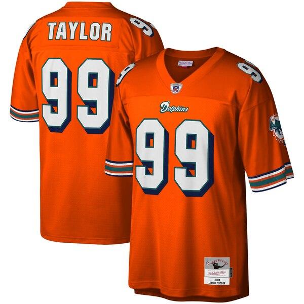 Jason Taylor Miami Dolphins Mitchell & Ness Legacy Replica Jersey - Orange