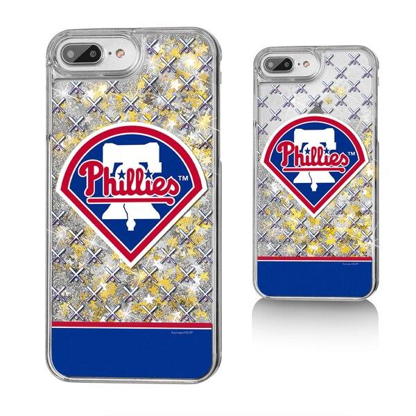 Philadelphia Phillies iPhone 6 Plus/6s Plus/7 Plus/8 Plus Logo Stripe Gold Glitter Case
