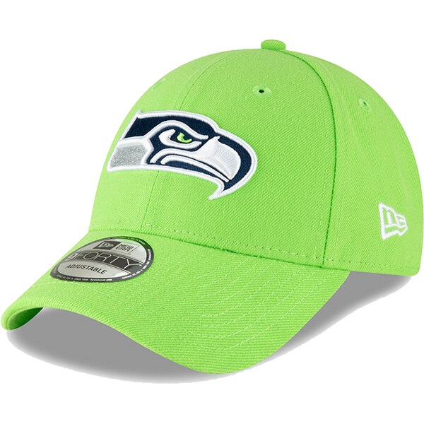 Seattle Seahawks New Era 9FORTY The League Adjustable Hat - Neon Green