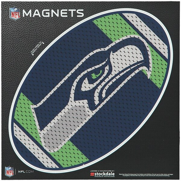 "Seattle Seahawks Jersey 6"" x 6"" Oval Full Color Magnet"