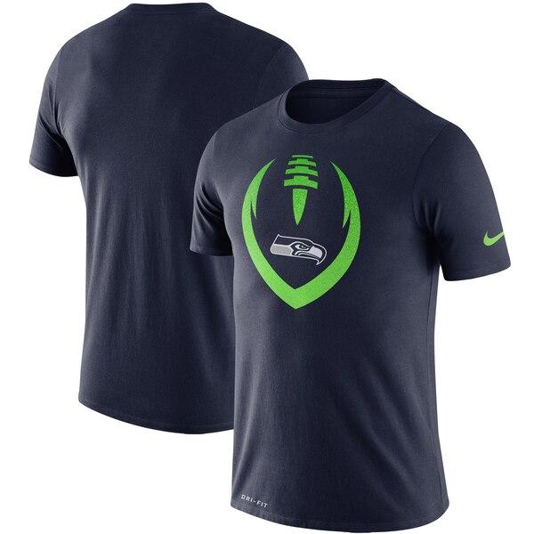 Seattle Seahawks Nike Fan Gear Modern Icon Performance T-Shirt - College Navy