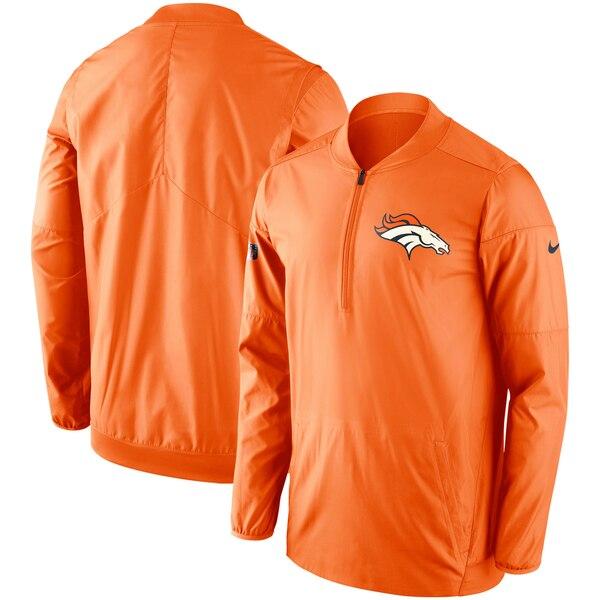 Denver Broncos Nike Sideline Lockdown Half-Zip Pullover Jacket - Orange